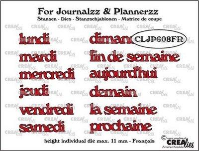Crealies Journalzz & Plannerzz - Stansen: Weekdagen FR