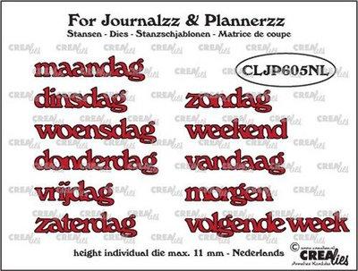 Crealies Journalzz & Plannerzz - Stansen: Weekdagen NL