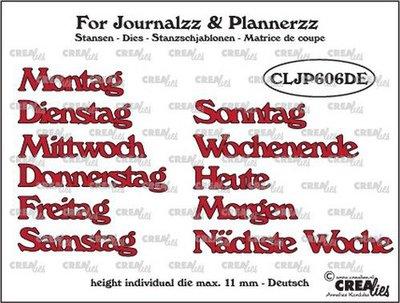 Crealies Journalzz & Plannerzz - Stansen: Weekdagen DE