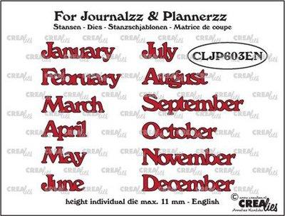 Crealies Journalzz & Plannerzz - Stansen: Maanden EN