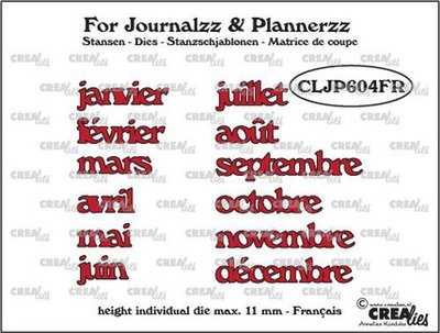 Crealies Journalzz & Plannerzz - Stansen: Maanden FR
