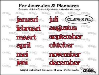 Crealies Journalzz & Plannerzz - Stansen: Maanden NL