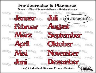 Crealies Journalzz & Plannerzz - Stansen: Maanden DE
