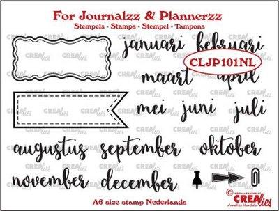 Crealies Journalzz & Plannerzz - Stempels: Maanden NL