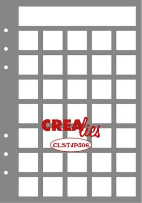 Crealies Journalzz & Plannerzz - Stencil: Journaling Maand Pagina B