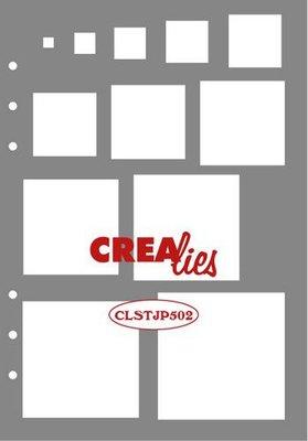 Crealies Journalzz & Plannerzz - Stencil: Decoratie Vierkanten