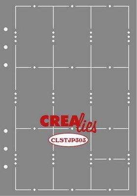 Crealies Journalzz & Plannerzz - Stencil: Journaling Week Pagina A