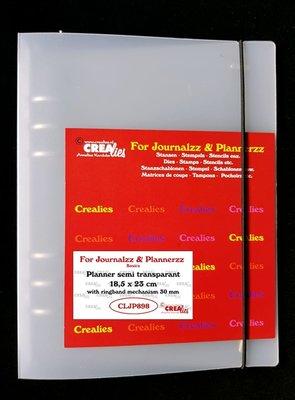 Crealies Journalzz & Plannerzz - Planner semi transparant CLJP898