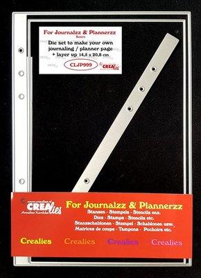 Crealies Journalzz & Plannerzz - Stansen: Journaling/Planner pagina + extra laag