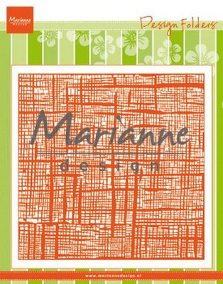 Marianne Design Embossing Folder - Linnen DF3453