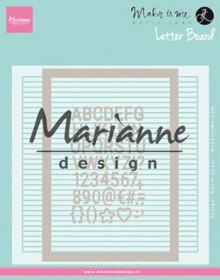 Marianne Design Embossing Folder - Karin Joan's Letter Board DF3454