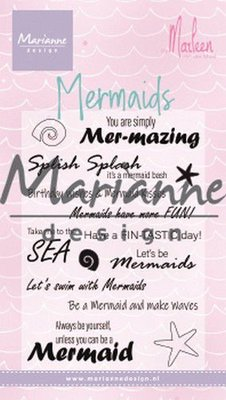 Marianne Design Stempel - Mermaid Sentiments by Marleen CS1025