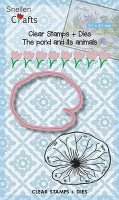 Nellie's Choice Die & Stamp - The Pond Waterlily Leaf SNCCS002