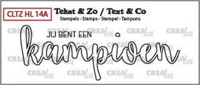 Crealies Tekst & Zo - Handlettering 14a - Champion