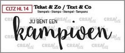 Crealies Tekst & Zo - Handlettering 14 - Champion