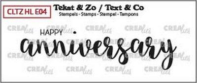 Crealies Tekst & Zo - Handlettering 4 - Happy Anniversary