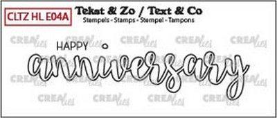 Crealies Tekst & Zo - Handlettering 4a - Happy Anniversary