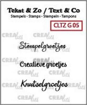Crealies Tekst & Zo - Groetjes 5
