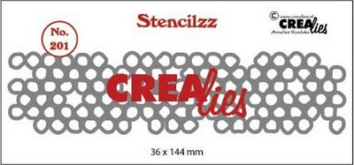 Crealies Stencilzz - Wonky Circles