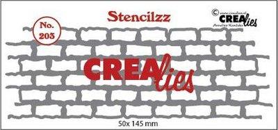 Crealies Stencilzz - Stones