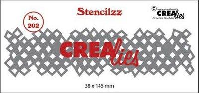 Crealies Stencilzz - Wonky Squares