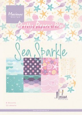 Marianne Design Paper Pack A5 - Sea Sparkle PK9163