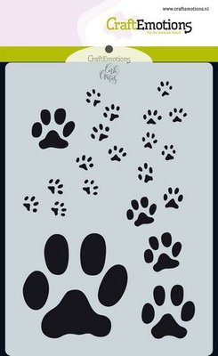 CraftEmotions Mask A6 - Odey & Friends - Paw Prints