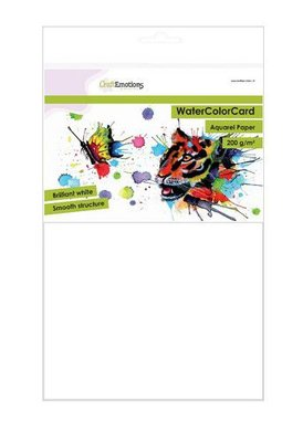 CraftEmotions Watercolour Card - Briljant Wit 200 gr