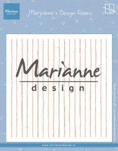 Marianne Design Embossing Folder - Marjoleine's Stripes DF3456