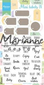 Marianne Design Stamp & Die Set - Mini Labels EN CS1029