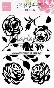 Marianne Design Stempel - Colourful Silhouettes: Roses CS1046