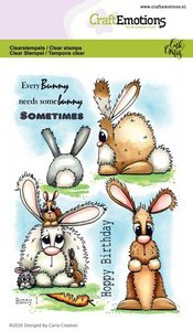 CraftEmotions Clearstamp A6 - Bunny 1