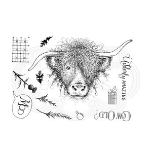 Creative Expressions Pink Ink Clear Stamp A5 - Cow's it Going