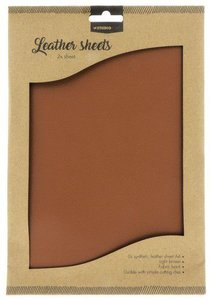 Studio Light Synthetic Leather Sheets no. 2 - Light Brown