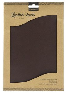Studio Light Synthetic Leather Sheets no. 3 - Dark Brown
