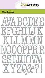 CraftEmotions Die - Alphabet Typewriter Uppercase (pre-order)
