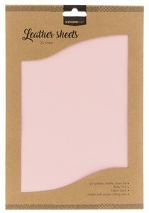 Studio Light Synthetic Leather Sheets no. 5 - Baby Pink