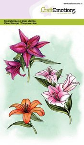 CraftEmotions Clearstamp A6 - Lily