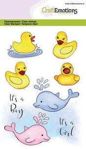 CraftEmotions Clearstamp A6 - Bath Ducks