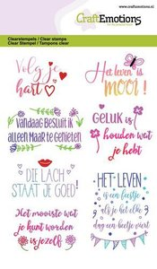 CraftEmotions Clearstamp A6 - Quotes Volg je Hart..