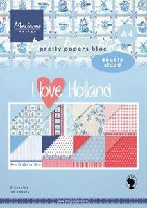 Marianne Design Paper Pad A4 - I Love Holland PK9168