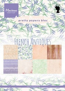 Marianne Design Paper Pad A5 - French Antiques PK9167