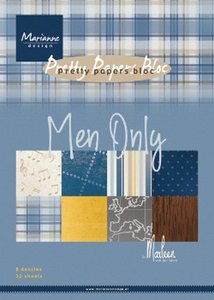 Marianne Design Paper Pad A5 - Men Only PK9169