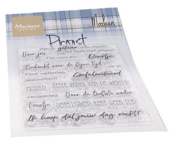Marianne Design Clearstamp - Proost by Marleen CS1056