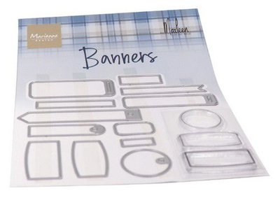 Marianne Design Clearstamp - Banners by Marleen CS1058