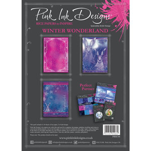 Creative Expressions Rice Paper - Pink Ink Winter Wonderland