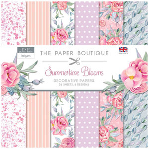 "Creative Expressions Paper Pad 8"" x 8"" - Summertime Blooms"