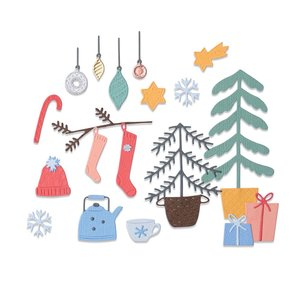 Sizzix Thinlits Die - Christmas Cheer 664497