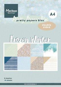 Marianne Design Paper Pad A4 - Frozen Winter PK9172