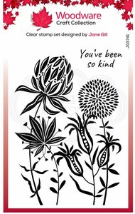Creative Expressions Woodware Clear Stamp A6 - Autumn Flowers